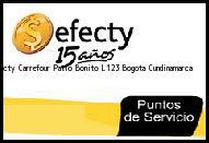 Teléfono y Dirección Efecty, Carrefour Patio Bonito L123 , Bogota, Cundinamarca