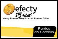 Teléfono y Dirección Efecty, Planadas Plaza Principal, Planadas, Tolima