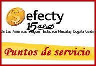 Teléfono y Dirección Efecty, Portal De Las Americas Diagonal Estacion Mandalay, Bogota, Cundinamarca