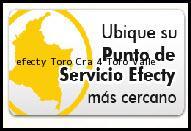 Teléfono y Dirección Efecty, Toro Cra 4, Toro, Valle