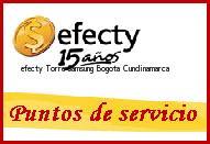 Teléfono y Dirección Efecty, Torre Samsung , Bogota, Cundinamarca