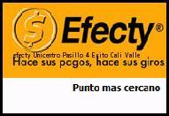 Teléfono y Dirección Efecty, Unicentro Pasillo 4 Exito, Cali, Valle