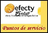 Teléfono y Dirección Efecty, Vicente Garcia, Cartagena, Bolivar