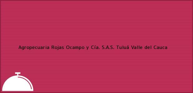 Teléfono, Dirección y otros datos de contacto para Agropecuaria Rojas Ocampo y Cía. S.A.S., Tuluá, Valle del Cauca, Colombia