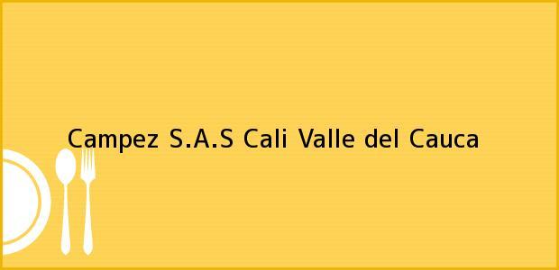Teléfono, Dirección y otros datos de contacto para Campez S.A.S, Cali, Valle del Cauca, Colombia