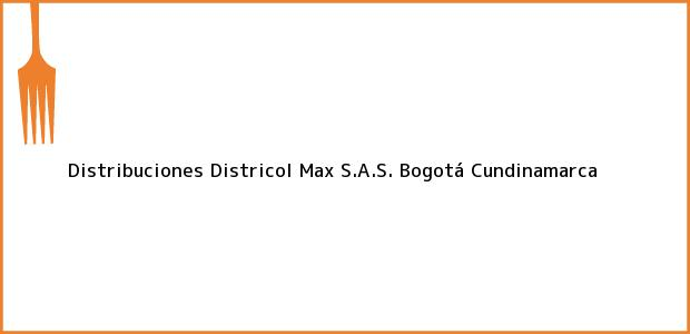 Teléfono, Dirección y otros datos de contacto para Distribuciones Districol Max S.A.S., Bogotá, Cundinamarca, Colombia