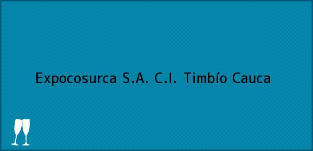 Teléfono, Dirección y otros datos de contacto para Expocosurca S.A. C.I., Timbío, Cauca, Colombia