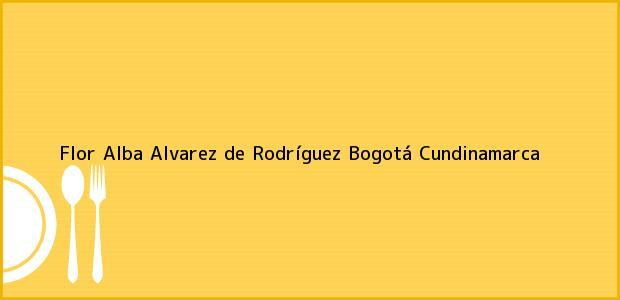 Teléfono, Dirección y otros datos de contacto para Flor Alba Alvarez de Rodríguez, Bogotá, Cundinamarca, Colombia