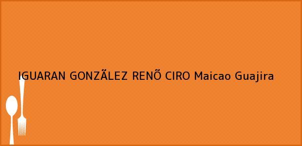 Teléfono, Dirección y otros datos de contacto para IGUARAN GONZÃLEZ RENÕ CIRO, Maicao, Guajira, Colombia