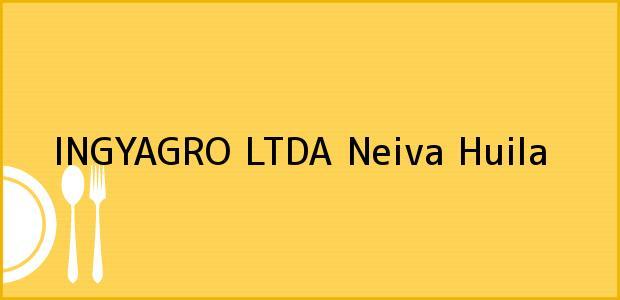 Teléfono, Dirección y otros datos de contacto para INGYAGRO LTDA, Neiva, Huila, Colombia
