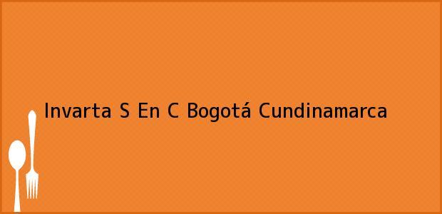 Teléfono, Dirección y otros datos de contacto para Invarta S En C, Bogotá, Cundinamarca, Colombia