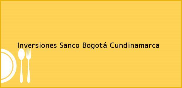 Teléfono, Dirección y otros datos de contacto para Inversiones Sanco, Bogotá, Cundinamarca, Colombia