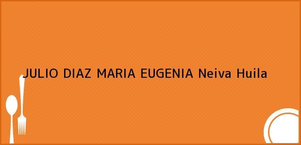 Teléfono, Dirección y otros datos de contacto para JULIO DIAZ MARIA EUGENIA, Neiva, Huila, Colombia