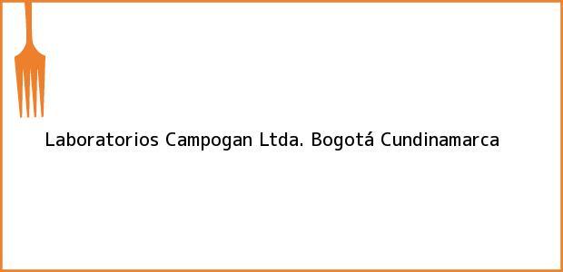 Teléfono, Dirección y otros datos de contacto para Laboratorios Campogan Ltda., Bogotá, Cundinamarca, Colombia