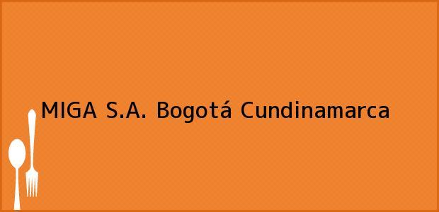 Teléfono, Dirección y otros datos de contacto para MIGA S.A., Bogotá, Cundinamarca, Colombia