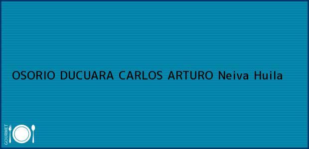 Teléfono, Dirección y otros datos de contacto para OSORIO DUCUARA CARLOS ARTURO, Neiva, Huila, Colombia