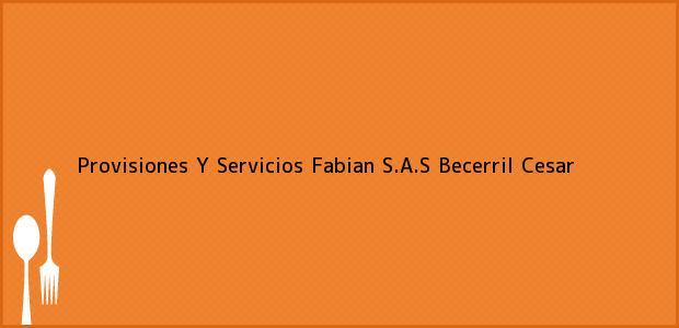 Teléfono, Dirección y otros datos de contacto para Provisiones Y Servicios Fabian S.A.S, Becerril, Cesar, Colombia