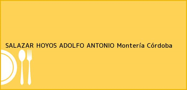 Teléfono, Dirección y otros datos de contacto para SALAZAR HOYOS ADOLFO ANTONIO, Montería, Córdoba, Colombia