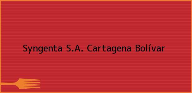 Teléfono, Dirección y otros datos de contacto para Syngenta S.A., Cartagena, Bolívar, Colombia