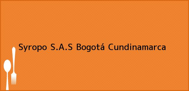 Teléfono, Dirección y otros datos de contacto para Syropo S.A.S, Bogotá, Cundinamarca, Colombia