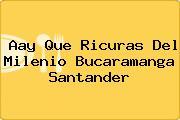 Aay Que Ricuras Del Milenio Bucaramanga Santander