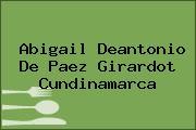 Abigail Deantonio De Paez Girardot Cundinamarca