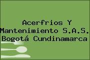Acerfrios Y Mantenimiento S.A.S. Bogotá Cundinamarca