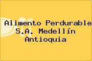 Alimento Perdurable S.A. Medellín Antioquia