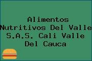 Alimentos Nutritivos Del Valle S.A.S. Cali Valle Del Cauca