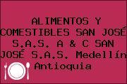 ALIMENTOS Y COMESTIBLES SAN JOSÉ S.A.S. A & C SAN JOSÉ S.A.S. Medellín Antioquia