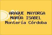 ARAQUE MAYORGA MARÚA ISABEL Montería Córdoba