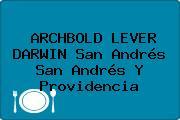 ARCHBOLD LEVER DARWIN San Andrés San Andrés Y Providencia
