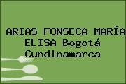 ARIAS FONSECA MARÍA ELISA Bogotá Cundinamarca