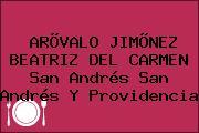 ARÕVALO JIMÕNEZ BEATRIZ DEL CARMEN San Andrés San Andrés Y Providencia