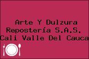 Arte Y Dulzura Repostería S.A.S. Cali Valle Del Cauca