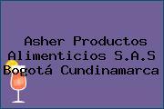 Asher Productos Alimenticios S.A.S Bogotá Cundinamarca