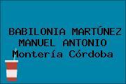 BABILONIA MARTÚNEZ MANUEL ANTONIO Montería Córdoba