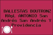 BALLESTAS BOUTRONZ RAºL ANTONIO San Andrés San Andrés Y Providencia