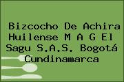 Bizcocho De Achira Huilense M A G El Sagu S.A.S. Bogotá Cundinamarca