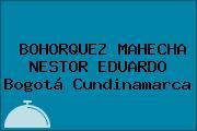 BOHORQUEZ MAHECHA NESTOR EDUARDO Bogotá Cundinamarca