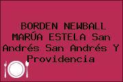 BORDEN NEWBALL MARÚA ESTELA San Andrés San Andrés Y Providencia
