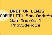 BRITTON LEWIS CARMELITA San Andrés San Andrés Y Providencia