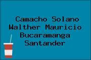 Camacho Solano Walther Mauricio Bucaramanga Santander