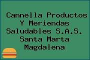 Cannella Productos Y Meriendas Saludables S.A.S. Santa Marta Magdalena