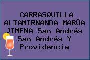 CARRASQUILLA ALTAMIRNANDA MARÚA JIMENA San Andrés San Andrés Y Providencia
