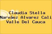 Claudia Stella Narváez Alvarez Cali Valle Del Cauca