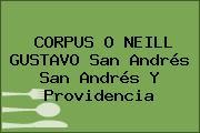 CORPUS O NEILL GUSTAVO San Andrés San Andrés Y Providencia