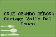 CRUZ OBANDO DÉBORA Cartago Valle Del Cauca