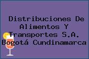 Distribuciones De Alimentos Y Transportes S.A. Bogotá Cundinamarca