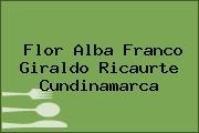 Flor Alba Franco Giraldo Ricaurte Cundinamarca